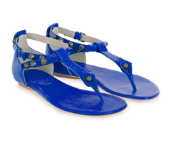 blauwe teenslipper