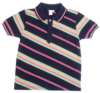 Acces Polo Multicolor gestreept - blauw