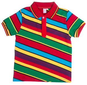 Acces Polo Multicolor gestreept - rood - afb. 1