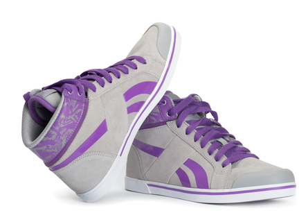paarse Sneakers - afb. 1