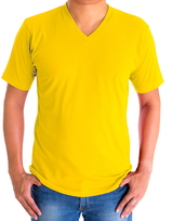 H&H T-shirt basic Geel