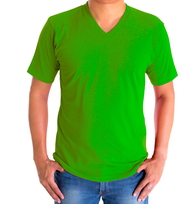 H&H T-shirt basic Groen