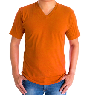 H&H T-shirt basic Oranje - afb. 1