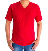 H&H T-shirt basic Rood